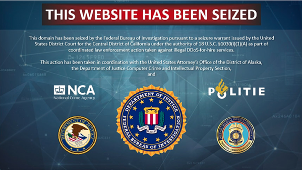 Figure 1. FBI Seized the Website of a Booter