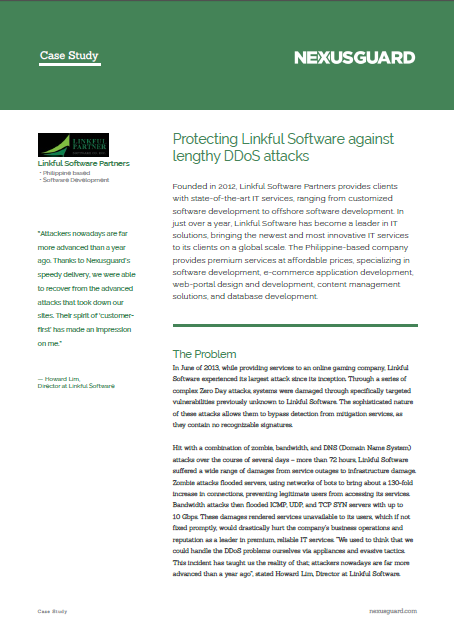 Protecting Linkful Software Against Lengthy DDoS Attacks