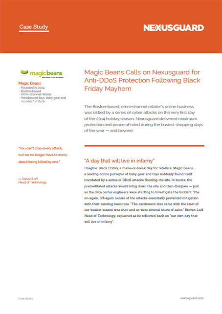 Magic Beans Calls on Nexusguard for Anti-DDoS Protection Following Black Friday Mayhem