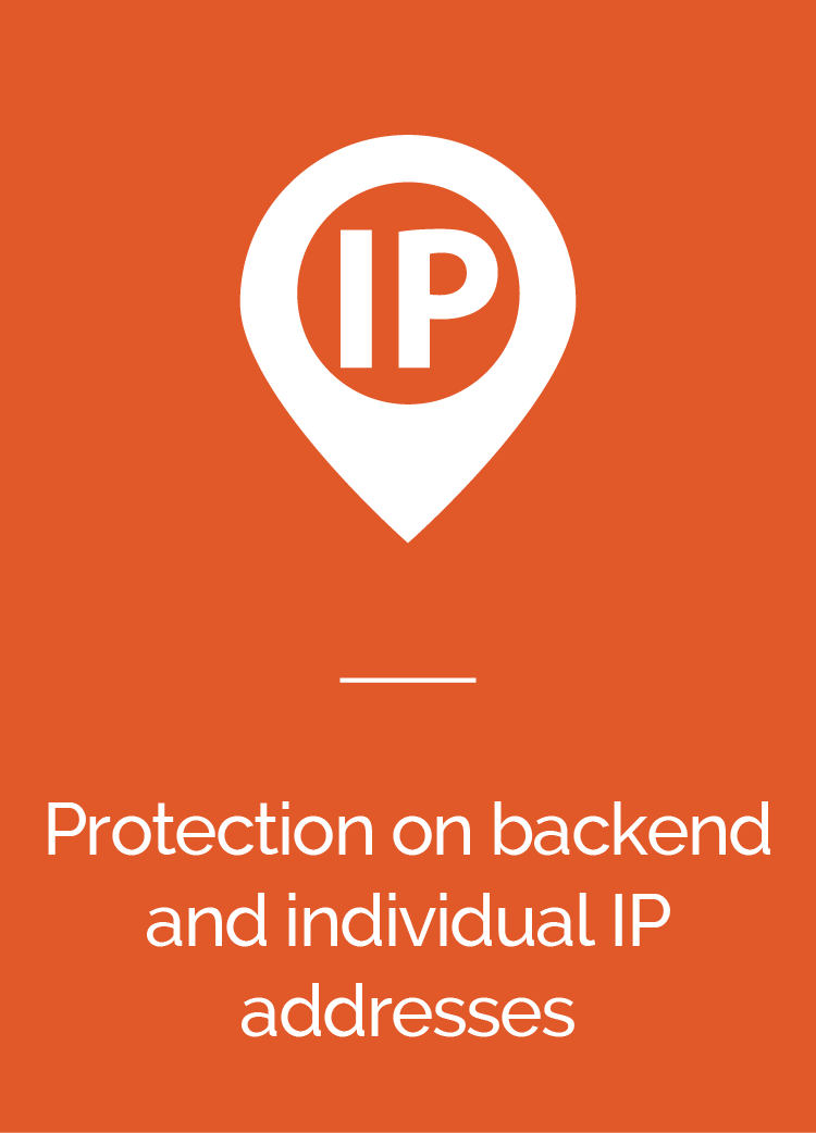 Protection on Backend and Individual IP Addresses
